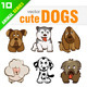 9 Cute Dogs - GraphicRiver Item for Sale
