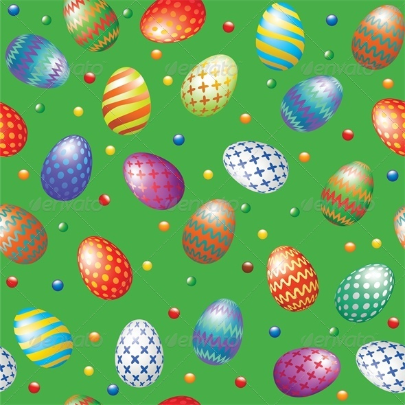 GraphicRiver Seamless Background with Easter Eggs 4042961