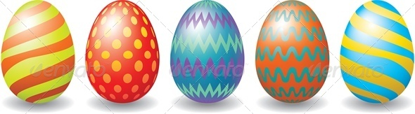GraphicRiver Easter Eggs Set 4043024