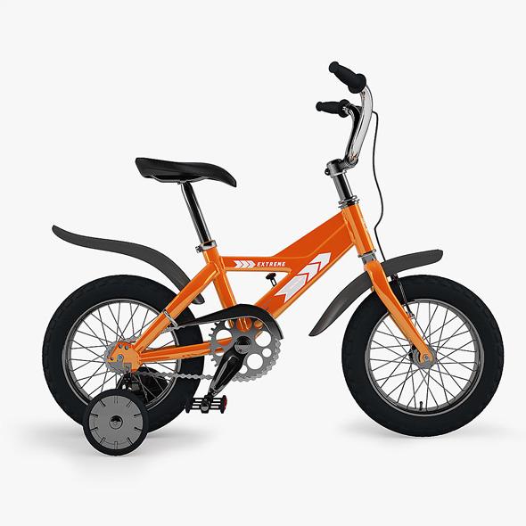 3DOcean Kid s Bike with Render Setup 4043115