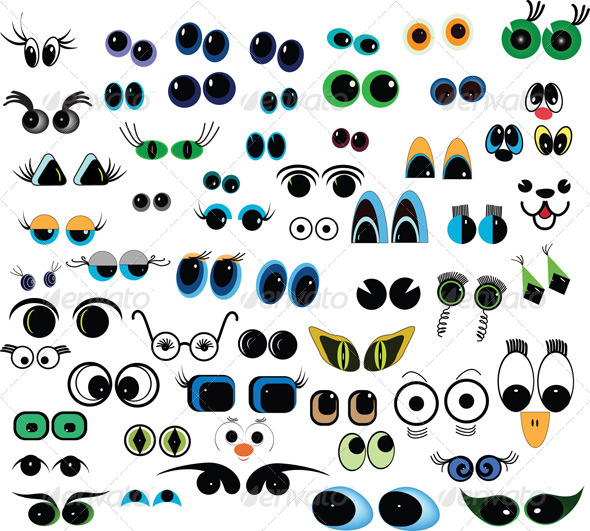 Cartoon Animal Eyes Clip Art