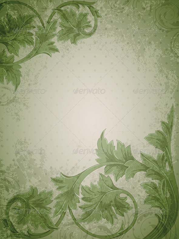 GraphicRiver Green Vintage Background 4043117