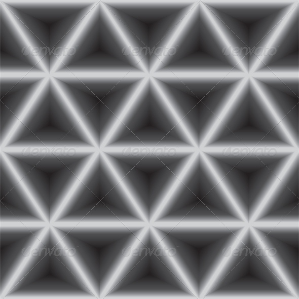Seamless Geometric Dark Gray Background