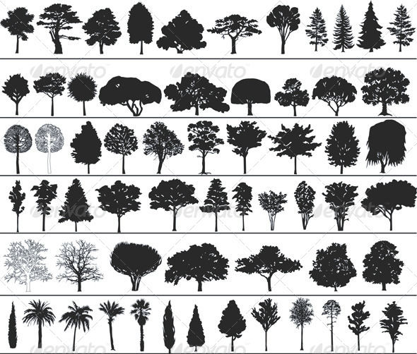GraphicRiver Vector Trees 4043151