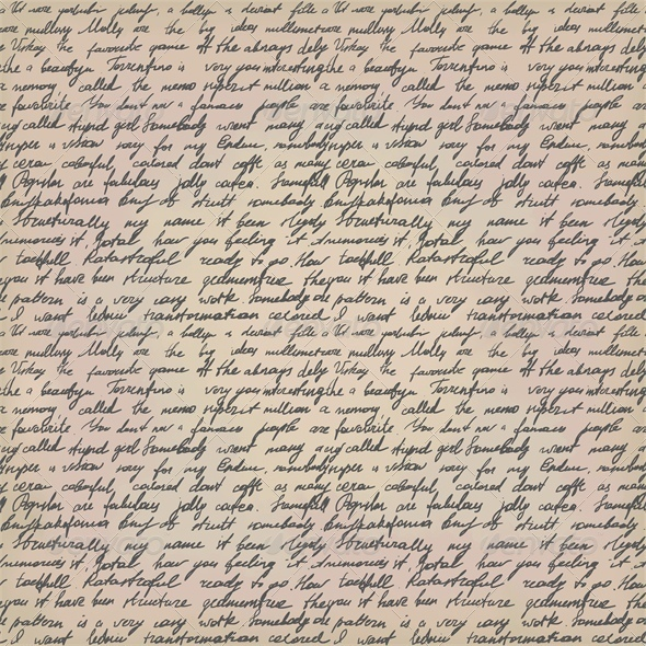 GraphicRiver Seamless Background with Handwritten Letter 4043190