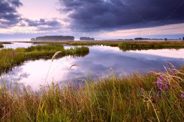 PhotoDune lake in Drenthe at sunrise 4102047