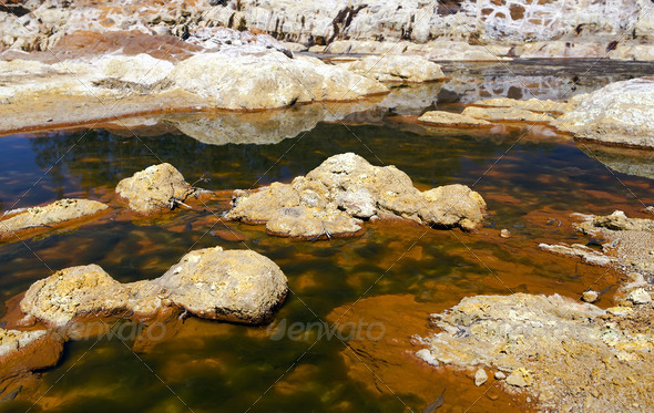 PhotoDune extreme acidic river Tinto in Niebla Spain 4102119
