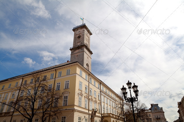 PhotoDune City hall in Lviv Lemberg 4102149
