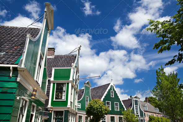 PhotoDune buildings in Zaanse Schans 4102158