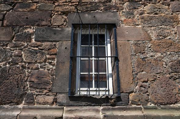 PhotoDune old window with bars 4102170