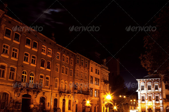 PhotoDune Lviv city by night 4102183