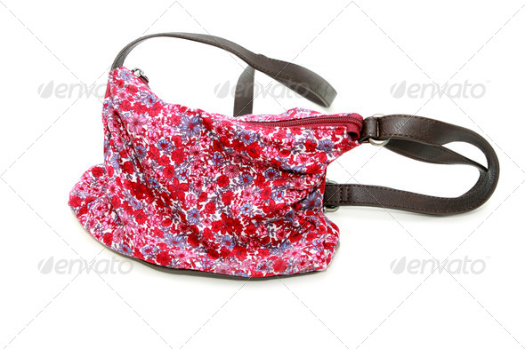 PhotoDune floral bag on white 4102262