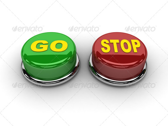 PhotoDune Go stop buttons Concept 3D illustration 4044475
