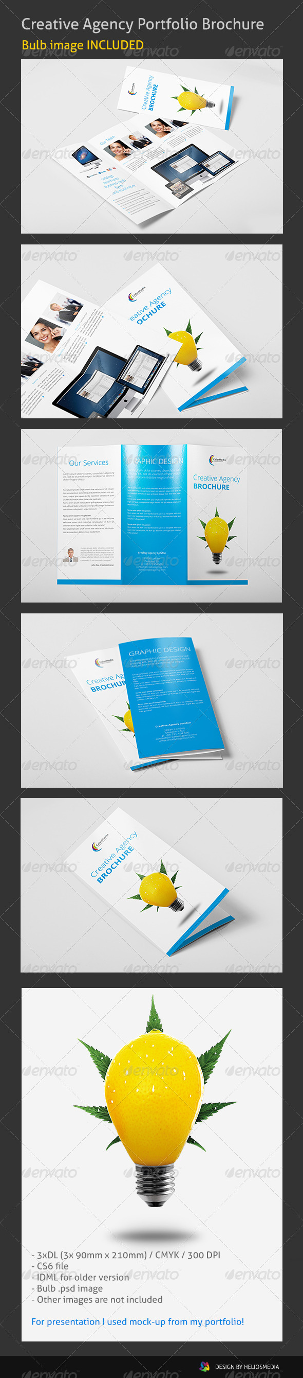 Tri-Fold Creative Agency Brochure - Corporate Brochures