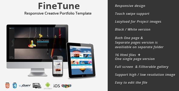 FineTune - Responsive Creative Portfolio Template - Creative Site Templates