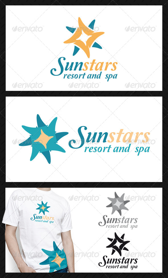 Sun Stars Logo Template