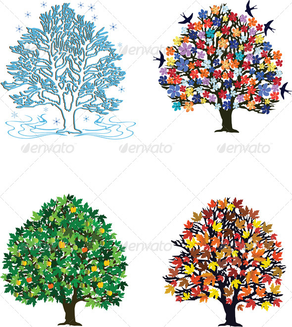 GraphicRiver Four Seasons 4044593
