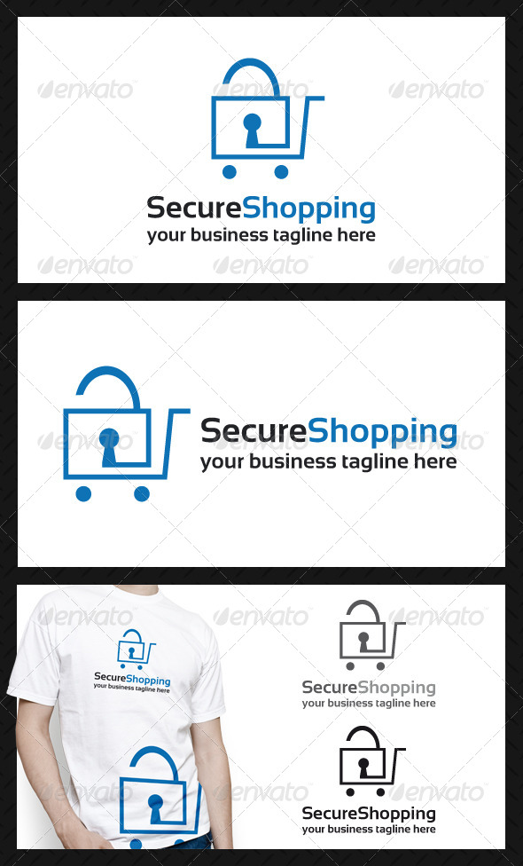 GraphicRiver Secure Shopping Logo Template 4044619