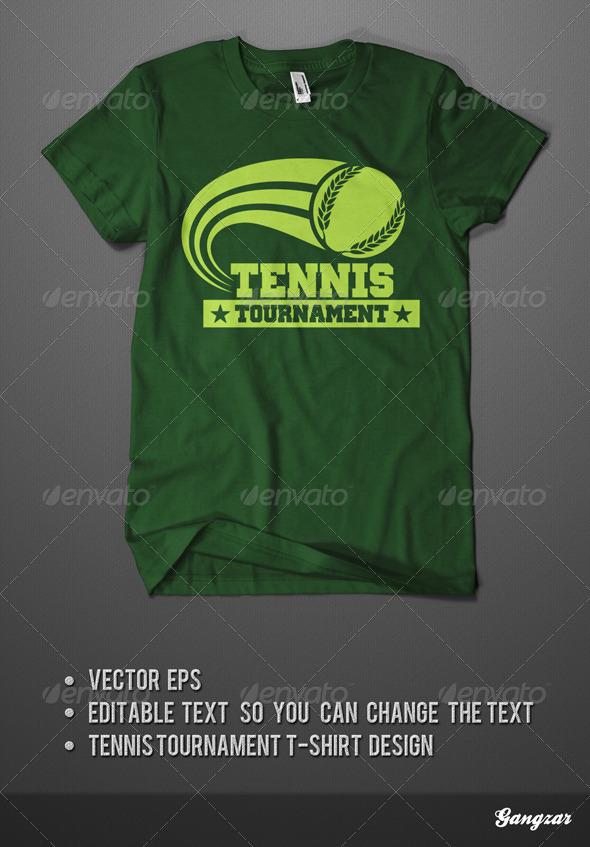 GraphicRiver Tennis Tournament T-Shirt 4044736