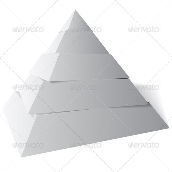 GraphicRiver Vector Pyramid Five Levels 3D Illustration 4044777