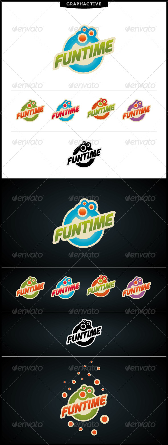 GraphicRiver Funtime Logo Template 4044809