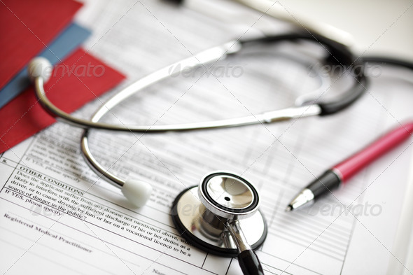 Medical records and sStethoscope