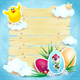 Easter background with chick - GraphicRiver Item for Sale