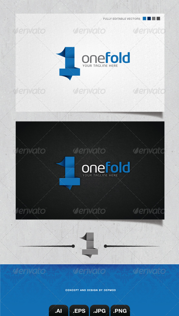 GraphicRiver One Fold Logo 4045060