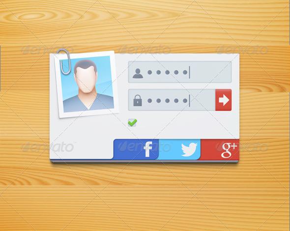 GraphicRiver login screen concept 4045175
