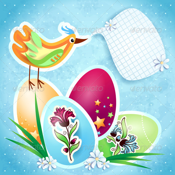 GraphicRiver Easter background with eggs 4045203