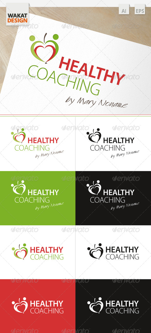 GraphicRiver Logo Healthy Coaching 4045286