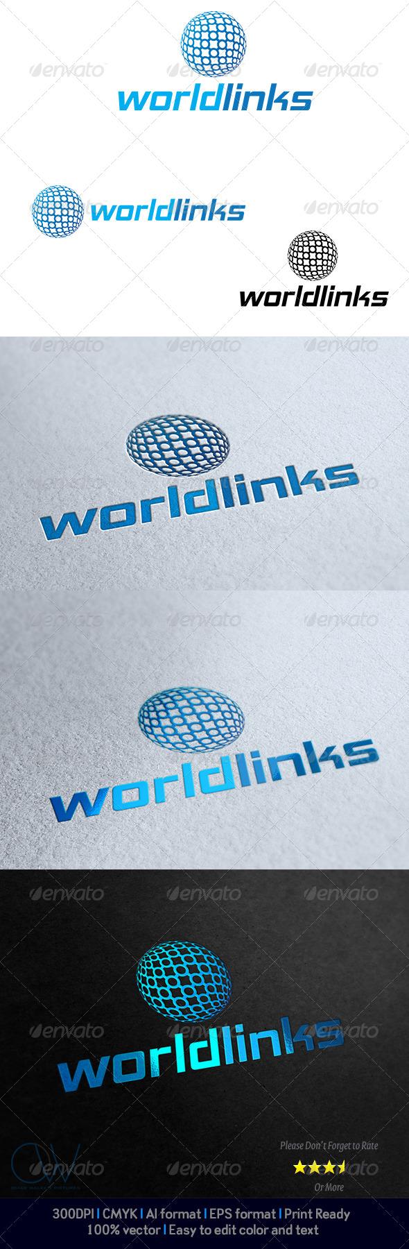 GraphicRiver Worldlinks Logo 4045853