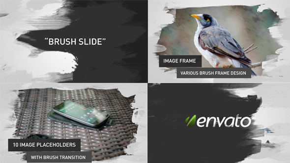 "Plantilla After Effects gratis ""Brush Image/Video Slides """