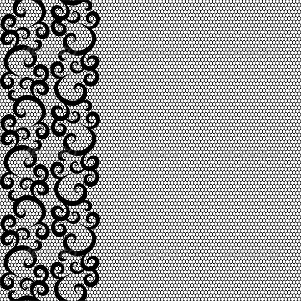 GraphicRiver Seamless lace border and net pattern 4046046