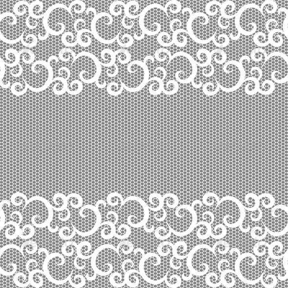 GraphicRiver Seamless lace border and net pattern 4046049