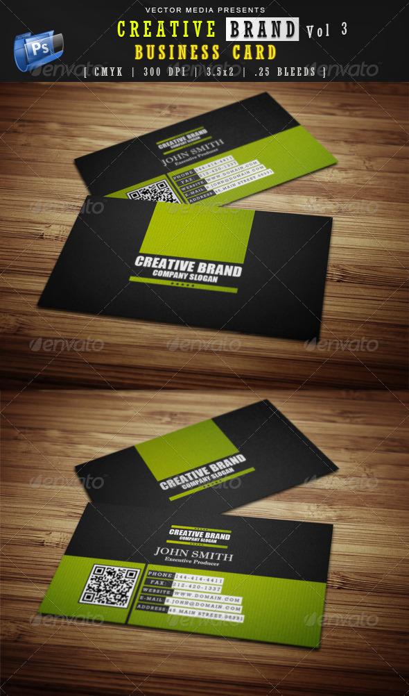 GraphicRiver Creative Brand Business Card [Vol.3] 4046062