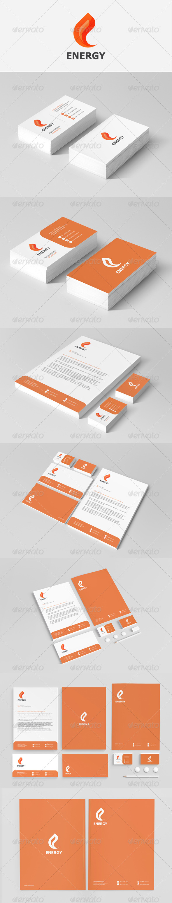 GraphicRiver Energy Stationery 3895142