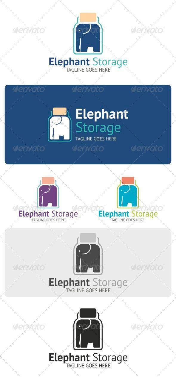 GraphicRiver Elephant Storage Logo 4046299