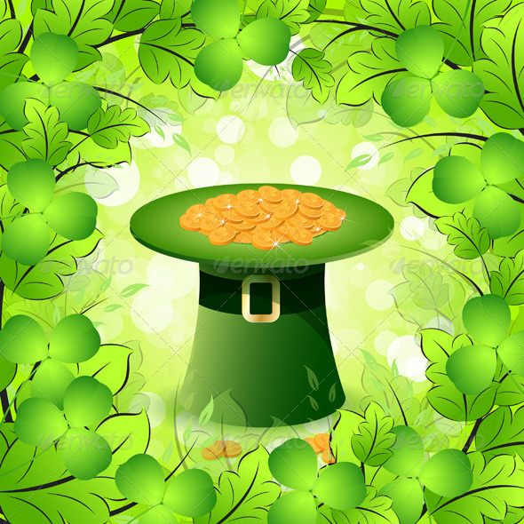 GraphicRiver St Patricks Day Card with Leprechaun Hat 4046506