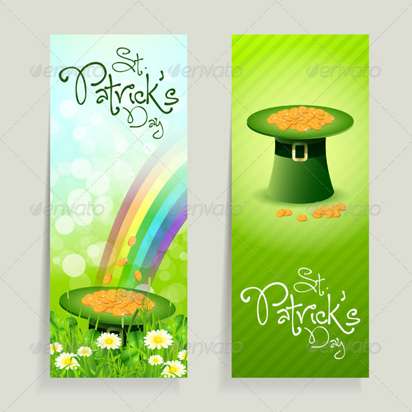 GraphicRiver Set of St Patricks Day Cards 4046513