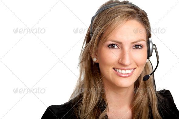 PhotoDune customer services girl 437589
