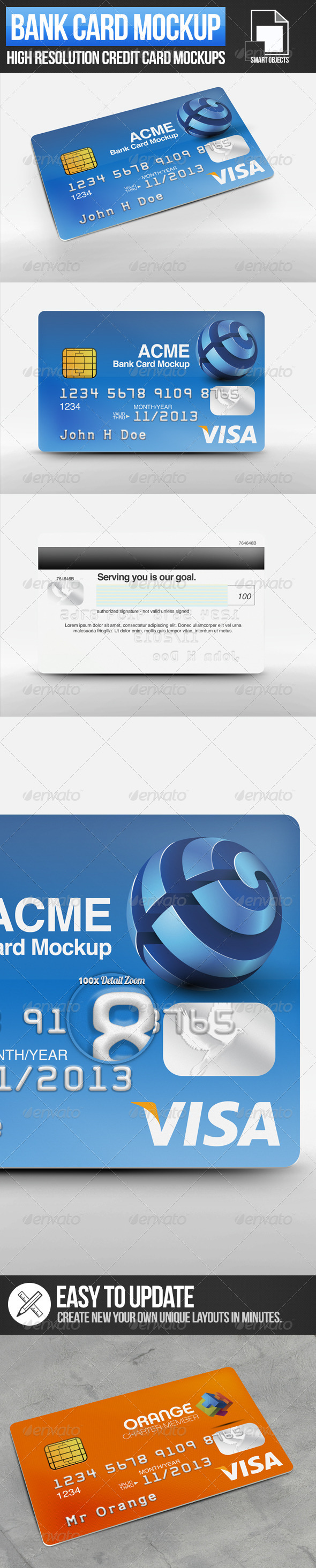 GraphicRiver Bank Card Mockups 4046830