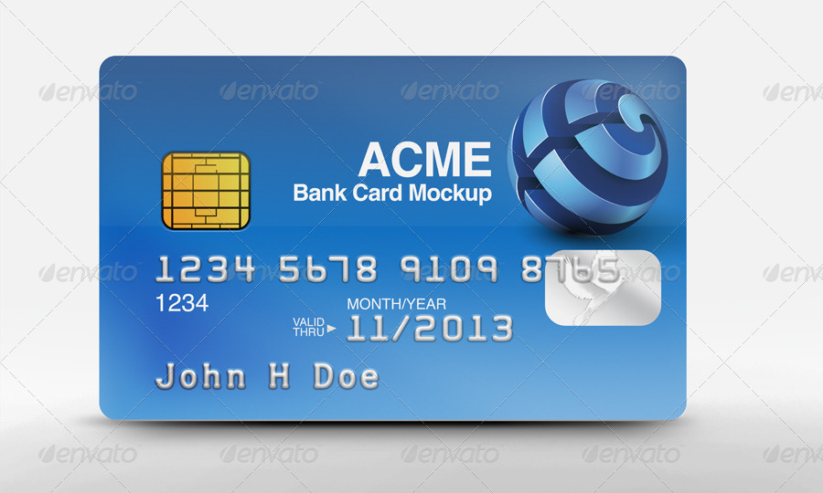 bank card mockups by aeveland