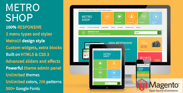 Download MetroShop – Responsive Magento theme! nulled download