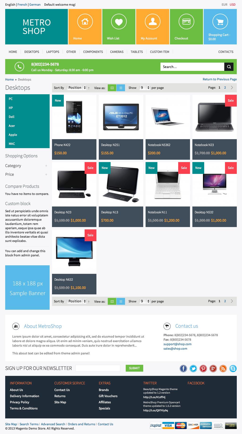 MetroShop – Premium Responsive Magento theme!