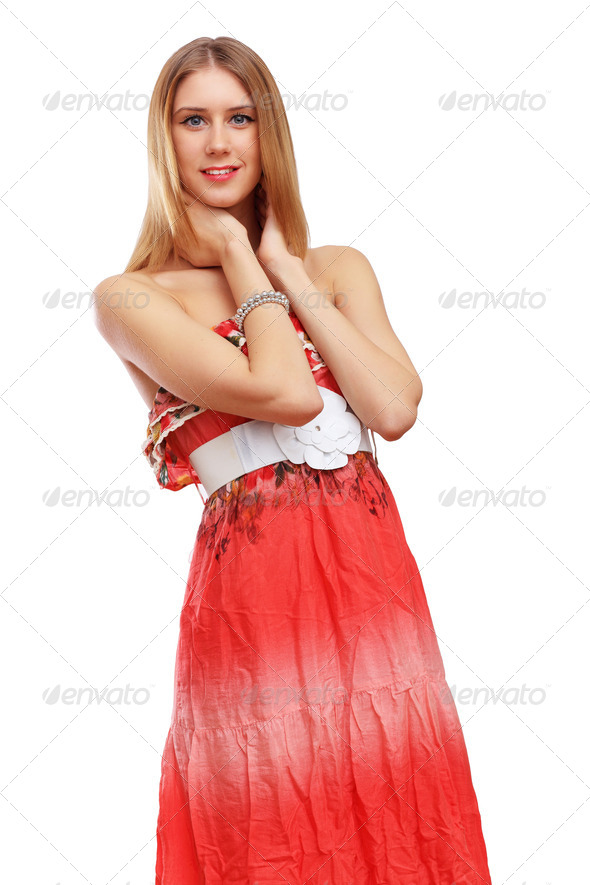 PhotoDune Woman in red dress 4048128