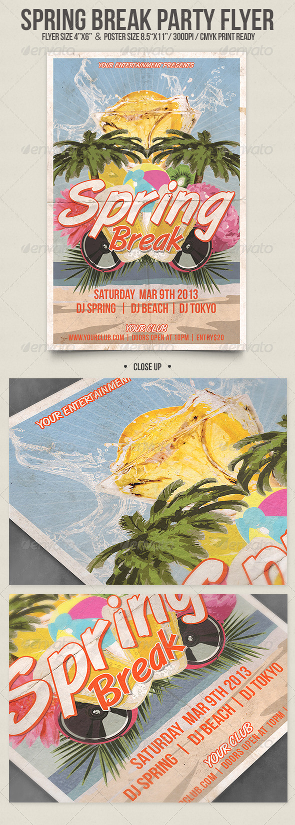 GraphicRiver Spring Break Party 3925744