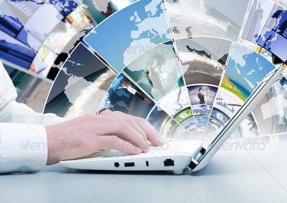 PhotoDune Computer keyboard and social media images 4048109