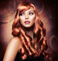 Beautiful Girl With Healthy Long Red Hair - PhotoDune Item for Sale
