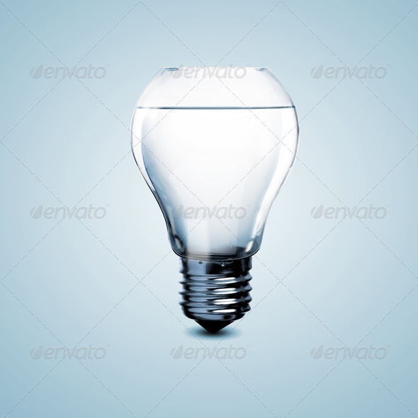 PhotoDune Electric light bulb with clean water 4048122